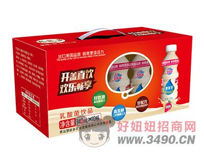 慧能多草莓味乳酸菌lehu国际app下载340ml×10瓶