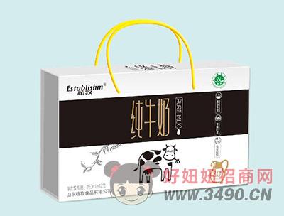 植牧纯牛奶手提礼盒装250mlx12盒