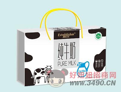 植牧纯牛奶手提礼盒装