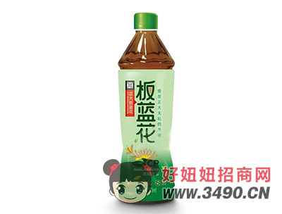 板蓝花果糖凉茶520ml