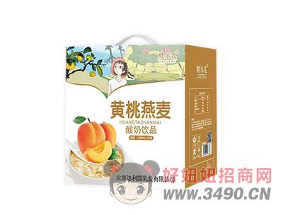 黄桃燕麦杀菌性酸奶饮品礼盒装