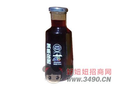 淇果庄园蓝莓枸杞复合果汁饮料345ml