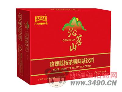 沁名山玫瑰荔枝茶果味茶饮料310ml×24罐