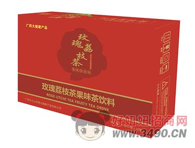 沁名山玫瑰荔枝茶果味茶�料310ml×16罐