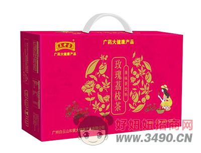 沁名山玫瑰荔枝茶果味茶饮料310ml×12罐