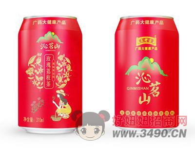 沁名山玫瑰荔枝茶果味茶�料310ml