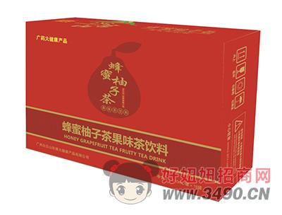 沁名山蜂蜜柚子茶果味茶饮料310ml×16罐
