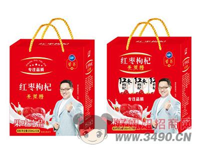 汇甜红枣枸杞无蔗糖果味饮品250ml×12盒