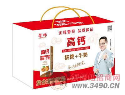 馨畅高钙核桃+牛奶复合蛋白饮品250ml×12盒