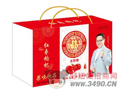 馨畅无蔗糖红枣枸杞果味饮品250ml×12盒