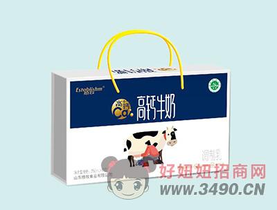 植牧高钙牛奶礼盒装