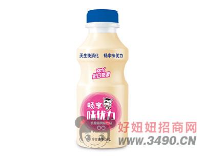 畅享味动力草莓味乳酸菌饮品340ml