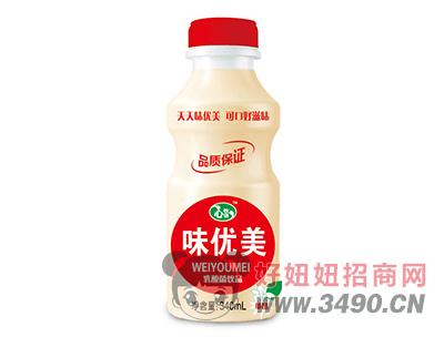 心牧语味优美草莓味乳酸菌饮品340ml