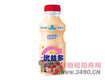 优益多草莓味乳酸菌风味lehu国际app下载340ml