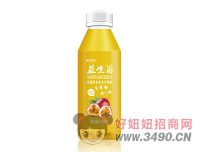 摇摇潮饮益生菌百香果发酵复合型果汁饮料450ml