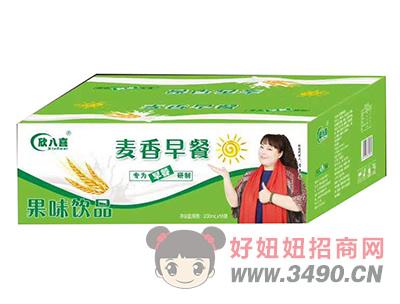 欣八喜麦香早餐果味饮品200ml×18袋