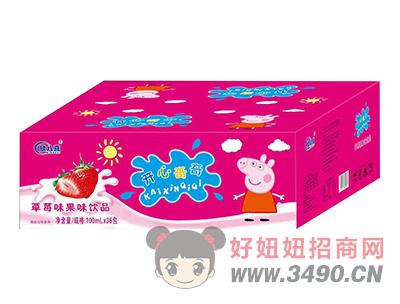 欣八喜开心奇奇草莓味果味饮品100ml×36包