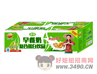 恒养道麦香早餐奶复合蛋白饮品250ml×16盒