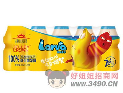 捷世冠爆笑虫子100%益生菌发酵乳酸菌lehu国际app下载100ml×5瓶