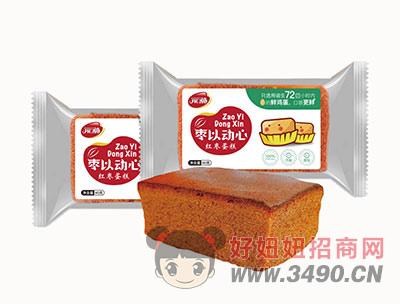 开口福枣以心动红枣蛋糕袋装