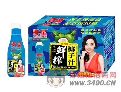 椰星头道鲜榨果肉椰子汁500g×15瓶