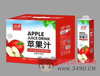 谷源苹果汁980ml