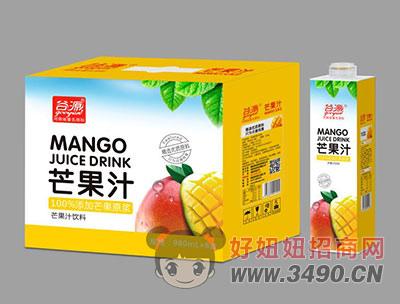 谷源芒果汁980ml