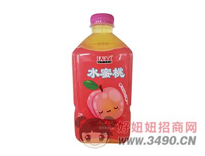 沃森水蜜桃果味饮料1L