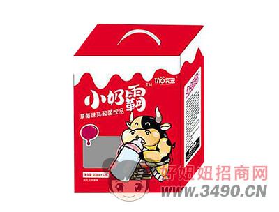 伽冠小奶霸草莓味乳酸菌�品200ml×12瓶