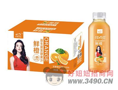 中奥鲜橙益生菌发酵复合果汁饮料410ml×15瓶