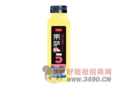 令德堂果萨冷榨水蜜桃汁饮料500ml