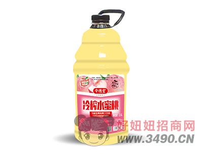 令德堂冷榨水蜜桃果肉果汁饮料2.5L