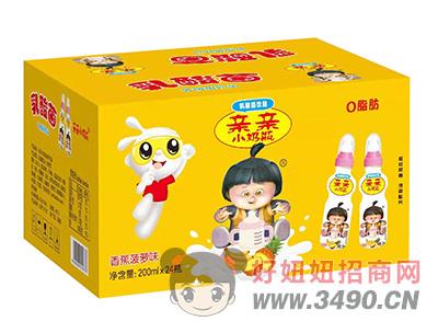 亲亲小奶瓶香蕉菠萝味乳酸菌lehu国际app下载200ml×24瓶