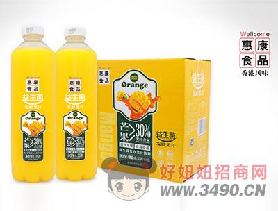惠康益生菌发酵复合芒果汁饮料1.25L×6瓶