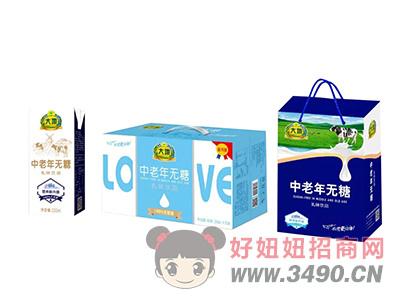 大地中老年无糖乳味lehu国际app下载250ml×20盒
