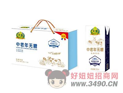 大地中老年无糖乳味lehu国际app下载250ml×12盒