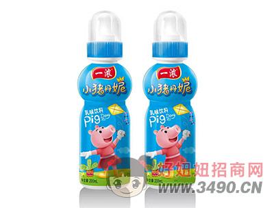 一浓小猪丹妮乳味饮料200ml(蓝瓶)