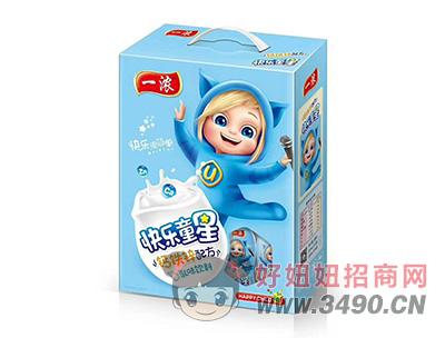 一浓快乐童星乳味饮料200ml(蓝礼盒)