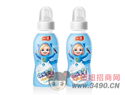 一浓快乐童星乳味饮料200ml(蓝瓶)