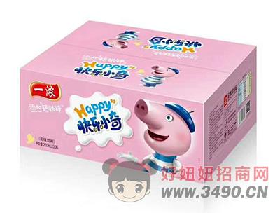 一浓快乐小奇乳味饮料200ml×20瓶(粉箱装)