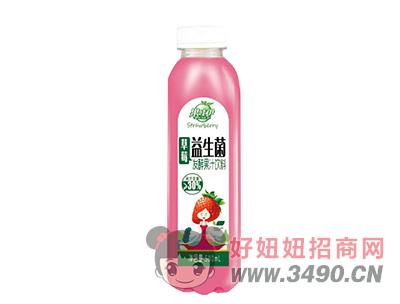 果哇伊益生菌草莓�l酵果汁�料500ml