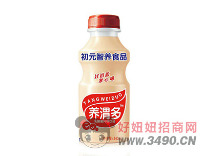 初元智养养渭多乳酸菌饮品340ml草莓味
