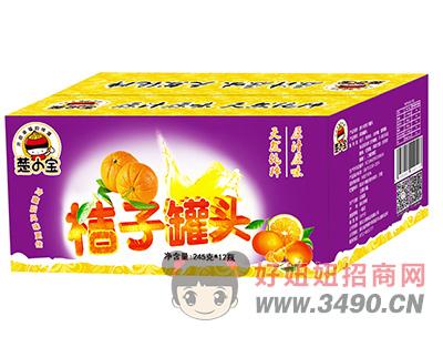 楚小宝橘子罐头箱装