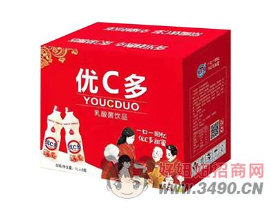 ��C多草莓味乳酸菌�品1L×8瓶