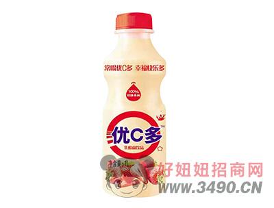 ��C多草莓味乳酸菌�品1L