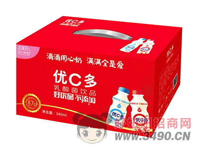 优C多乳酸菌饮品340ml礼盒