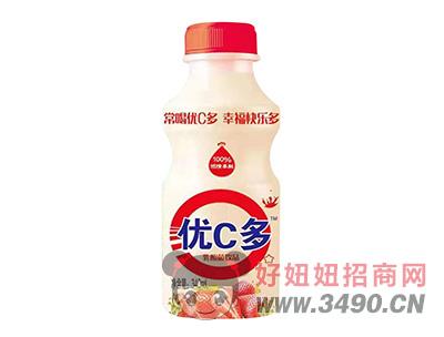 优C多草莓味乳酸菌饮品340ml