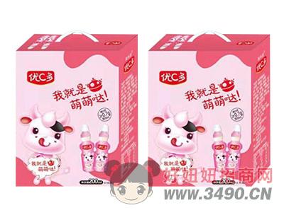 优C多草莓乳酸菌饮品200ml×16瓶