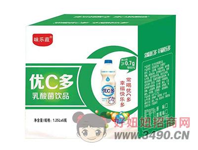 味乐菽优C多乳酸菌饮品1.25L×6瓶
