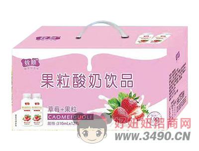 ��草莓+果粒酸奶�品310ml×12瓶
